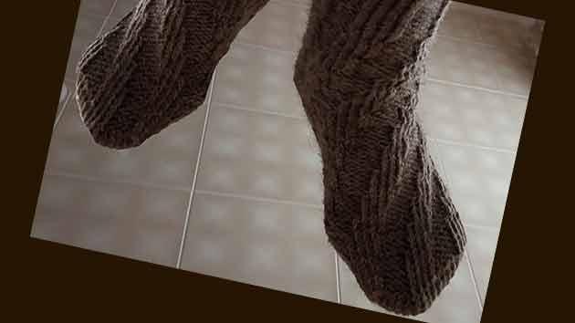 Как связать носки спицами без пятки, пошагово с фото