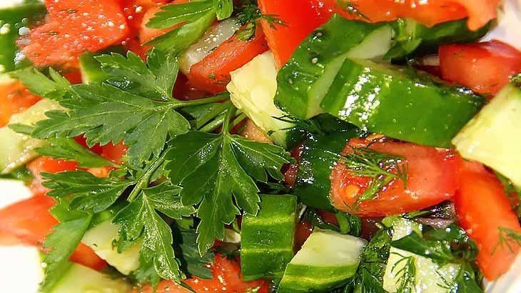 Кулинарные рецепты салатов для правильного питания человека
