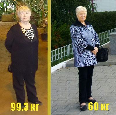 вес до и после