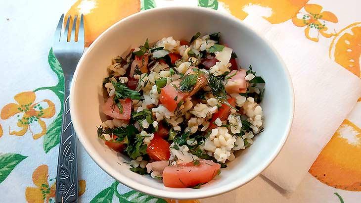 готовый салат с булгуром