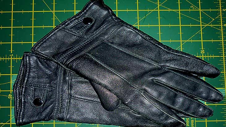 Как починить внутреннюю часть кожаных перчаток, пошагово с фото