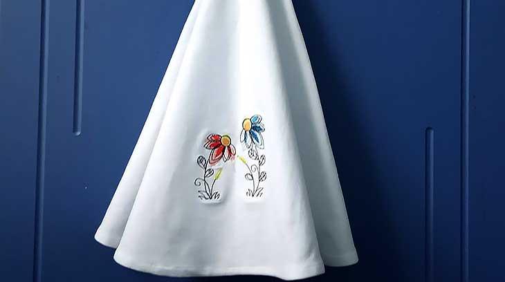 полотенце-колокол готово