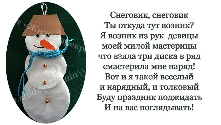 сих и готовая поделка - снеговик