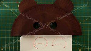 рисуем и вырезаем внутренние ушки