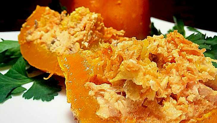 перцы, фаршированные рыбой с апельсином