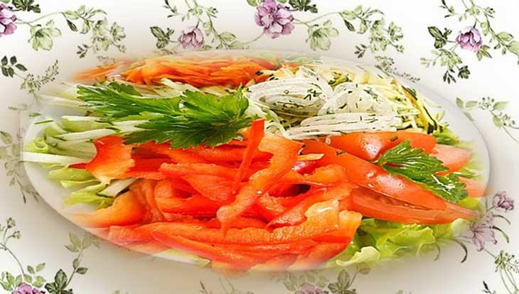Фруктово-овощные салаты с морковью, рецепты, ингредиенты, приготовление