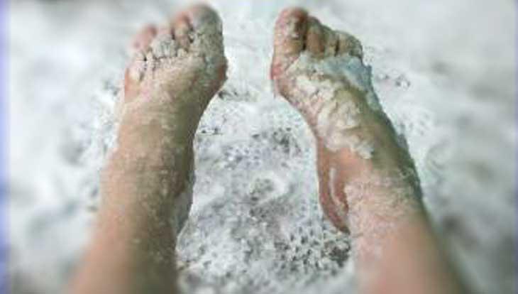 снег и соль- лечим ноги