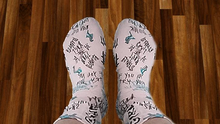 Как быстро сшить красивые носки из остатков трикотажа