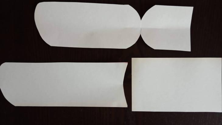 выкройка носка - 3 части